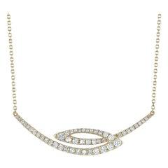 LB Exclusive 18 Karat Yellow Gold 0.48 Carat Diamond Necklace