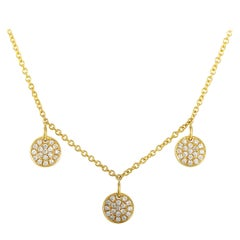 LB Exclusive 18 Karat Yellow Gold 0.48 Carat Diamond Pendant Necklace