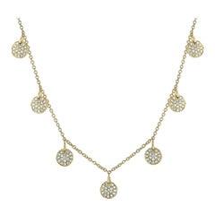 LB Exclusive 18 Karat Yellow Gold 1.08 Carat Diamond Necklace