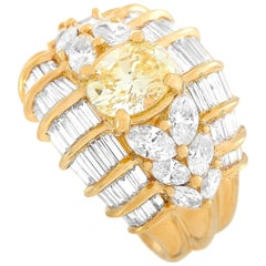 LB Exclusive 18 Karat Yellow Gold 3.27 Carat Diamond Ring