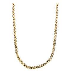 LB Exclusive 18 Karat Yellow Gold 4.93 Carat Diamond Necklace