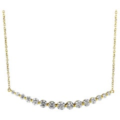 LB Exclusive 18 Karat Yellow Gold and Diamond Pendant Necklace