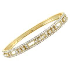 LB Exclusive 18 Karat Yellow Gold Diamond Bangle Bracelet