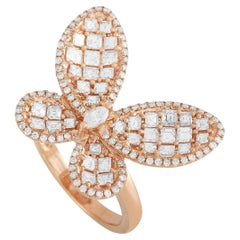 LB Exclusive 18K Rose Gold 1.93 ct Diamond Butterfly Ring