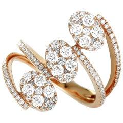 LB Exclusive 18 Karat Rose Gold Diamond Pave Ring