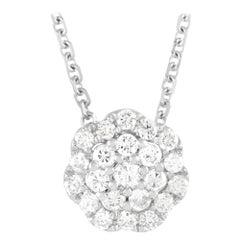 LB Exclusive 18k White Gold 0.27ct Diamond Pendant Necklace