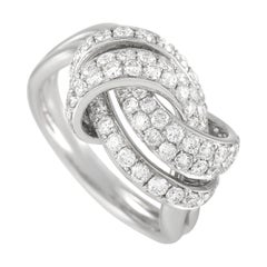 LB Exclusive 18k White Gold 1.45 Ct Diamond Ring
