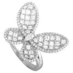 LB Exclusive 18K White Gold 1.93 ct Diamond Butterfly Ring