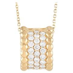LB Exclusive 18K Yellow Gold 0.58 ct Diamond Pendant Necklace