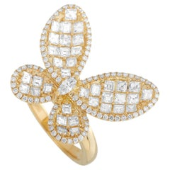 LB Exclusive 18K Yellow Gold 1.93 ct Diamond Butterfly Ring