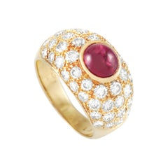 LB Exclusive 18k Yellow Gold 2.23 Ct Diamond and 1.90 Ct Ruby Ring