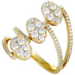 LB Exclusive 18 Karat Yellow Gold Diamond Pave Ring