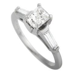 LB Exclusive Platinum 1.31 Carat Diamond Engagement Ring