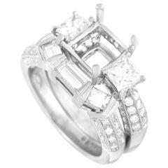 LB Exclusive Platinum 1.50 Carat Diamond Bridal Set Rings