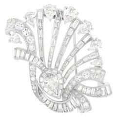 LB Exclusive Platinum 17.17 Ct Diamond Brooch