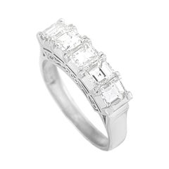 LB Exclusive Platinum 2.08 Ct Square Cut Diamond Ring