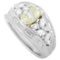 LB Exclusive Platinum and 18 Karat White Gold 2.44 Carat Diamond Ring