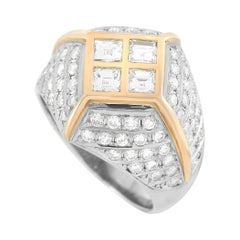 LB Exclusive Platinum and 18k Yellow Gold 1.50 Ct Diamond Ring