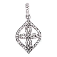 LB Exclusive White Gold Diamond Pave Marquise Pendant