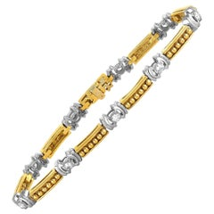 LB Exclusive Yellow and White Gold Diamond Tennis Bracelet