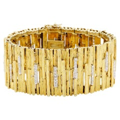 LB Exclusive Yellow Gold and Diamond Vintage Bracelet