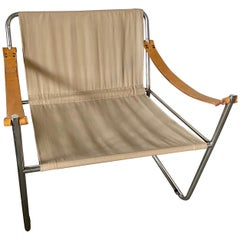 LC1 Style Canvas Sling Lounge Chair