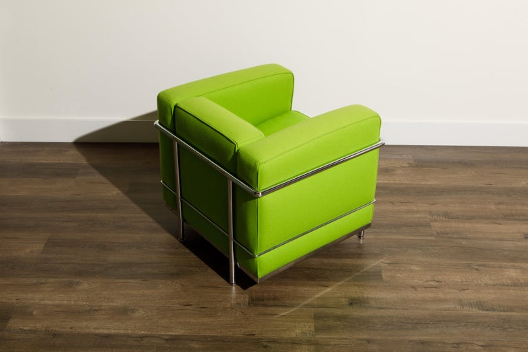 'LC2' Club Chair by Le Corbusier and Pierre Jeanneret for Cassina, Signed For Sale 3