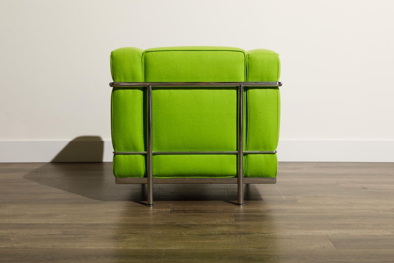 'LC2' Club Chair by Le Corbusier and Pierre Jeanneret for Cassina, Signed For Sale 4