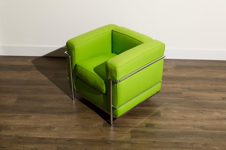 'LC2' Club Chair by Le Corbusier and Pierre Jeanneret for Cassina, Signed For Sale 7