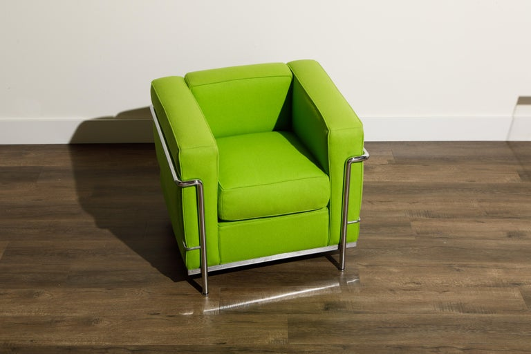 Bauhaus 'LC2' Club Chair by Le Corbusier and Pierre Jeanneret for Cassina, Signed For Sale