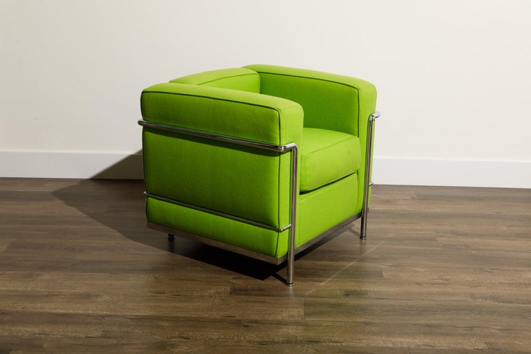 Contemporary 'LC2' Club Chair by Le Corbusier and Pierre Jeanneret for Cassina, Signed For Sale