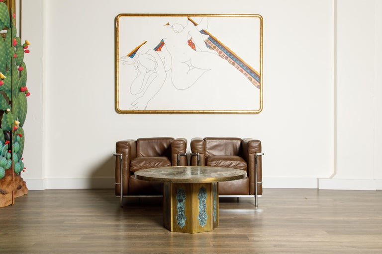 Leather 'LC2' Club Chairs by Le Corbusier for Cassina, Early Year Productions, Signed For Sale