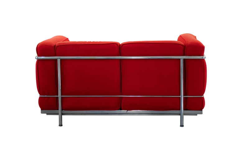 Italian LC2 Two Seats Sofa by Le Corbusier for Cassina, Italy, 1970s For Sale