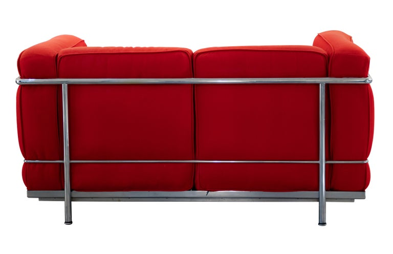 Late 20th Century LC2 Two Seats Sofa by Le Corbusier for Cassina, Italy, 1970s For Sale