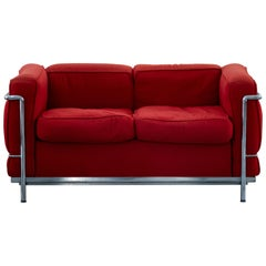 LC2 Two Seats Sofa by Le Corbusier for Cassina, Italy, 1970s