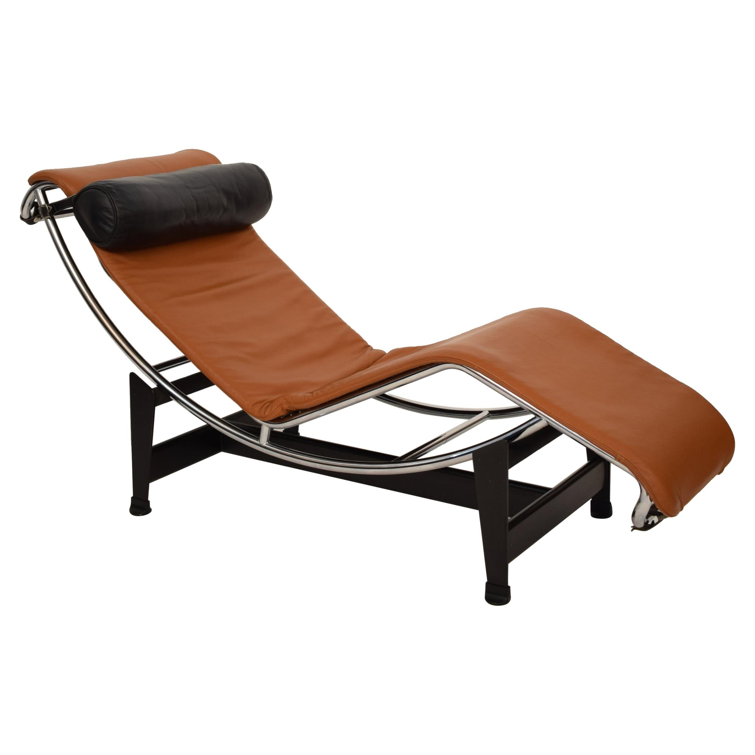 LC6 Chaise Lounge Leather by Charlotte Perriand and Le Corbusier, for  Cassina