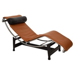 LC4 Chaise Lounge Leather by Charlotte Perriand and Le Corbusier, for Cassina