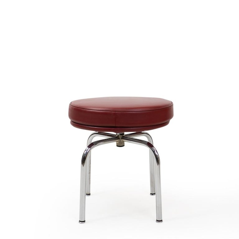 Vintage Red Lc8 Stools by Charlotte Perriand for Cassina, 1980s For Sale 1