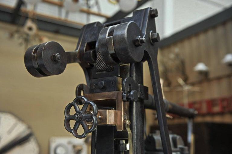 L Casin Lille 1920s Pressure Monitor Cast Iron Machine In