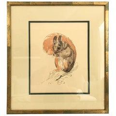 Das Eichhörnchen, Lithografie von Paul Jouve, Frankreich, 1932