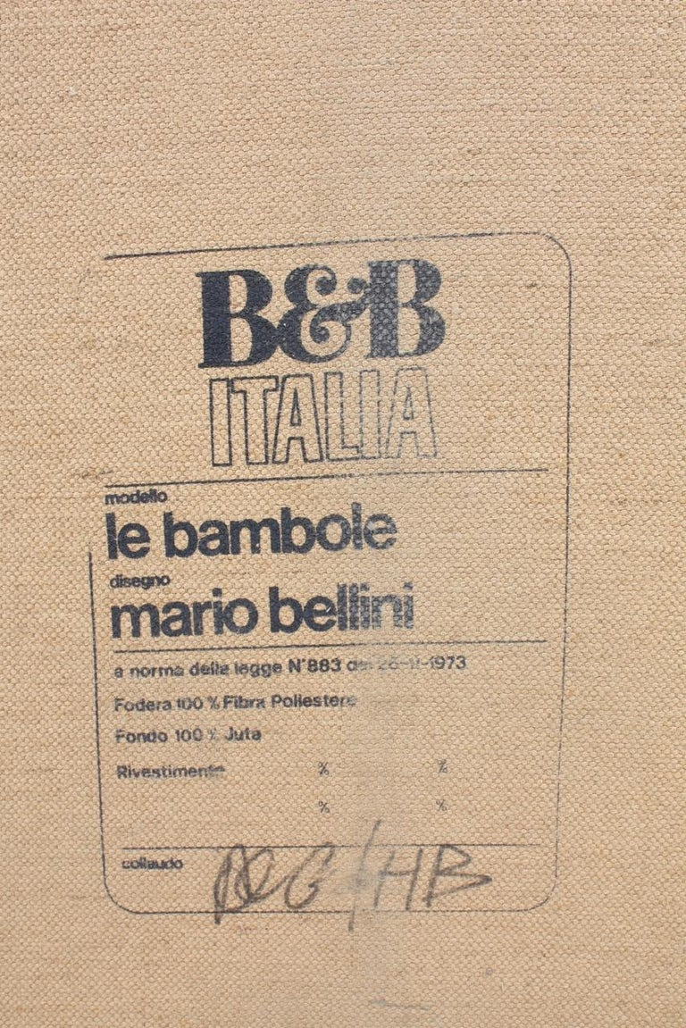 Le Bambole Sofa by Mario Bellini For Sale 4