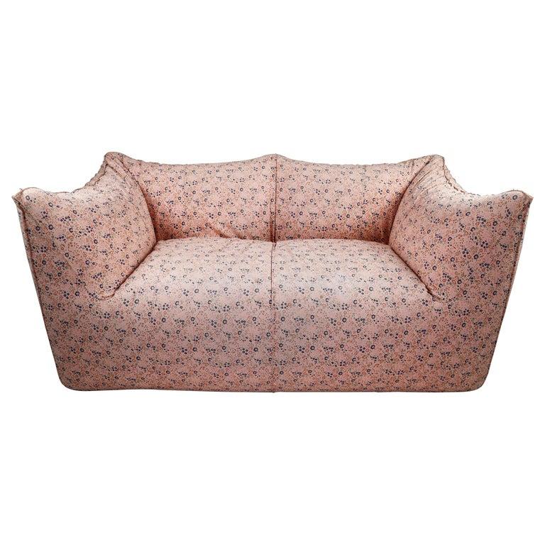 Le Bambole Sofa in Original Floral Fabric by Mario Bellini for B&B Italia, 1972 For Sale