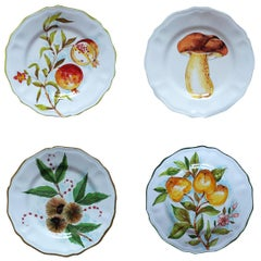 Le Bois Hand Painted Ceramic Plates Set of 4