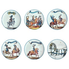 Le Carousel Porcelain Dinner Plates Set of 6 Made in Italy