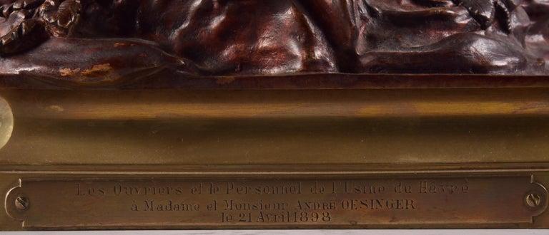 Le char de l'aurore - Louis Auguste Moreau, circa 1880, Signed For Sale 5
