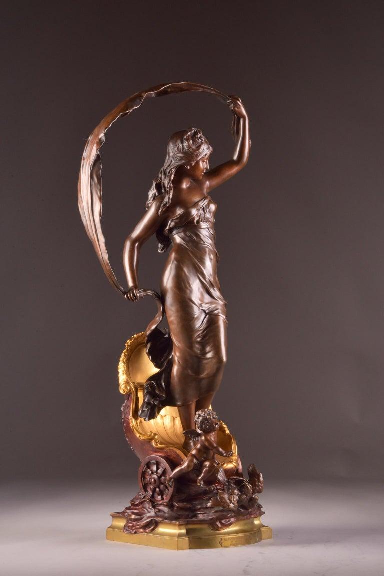 Gilt Le char de l'aurore - Louis Auguste Moreau, circa 1880, Signed For Sale
