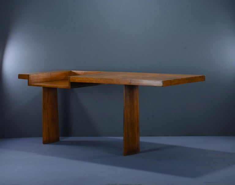 Indian Le Corbusier Ahmedabad Console Desk Authentic Mid-Century Modern LC-AH-16-A For Sale