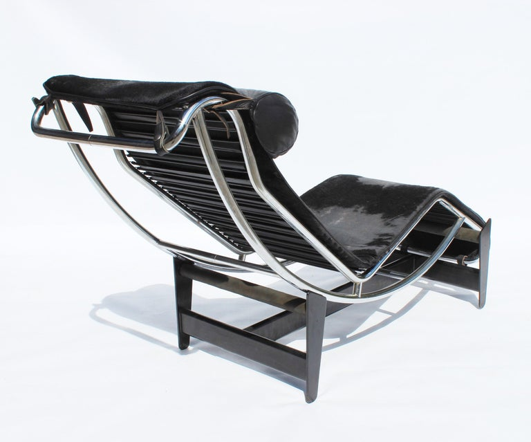 Le Corbusier Chaise, Model LC4, for Cassina, 1960s In Good Condition For Sale In Lejre, DK