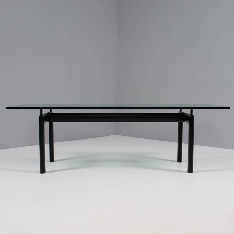 Originally designed in 1928 by Le Corbusier, Charlotte Perriand and Jean Jeanerret, the LC collection pared furniture design back to only the most essential elements and silhouettes, which is demonstrated perfectly in the LC6 Table.  The base,
