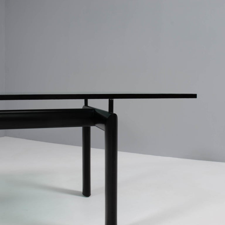Glass Le Corbusier, Charlotte Perriand & Pierre Jeanerret for Cassina LC6 Dining Table For Sale